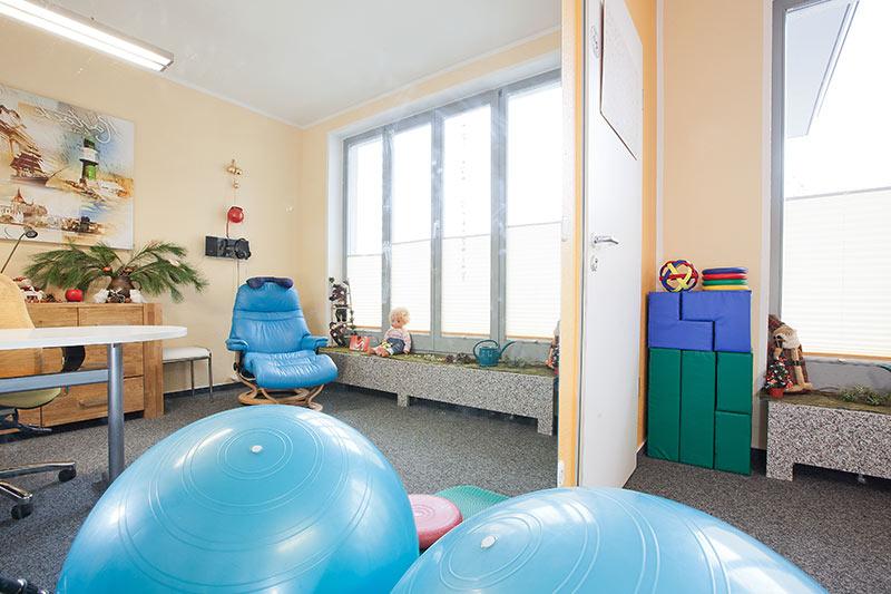Behandlungsraum der Logopädie Lautstark in Rostock